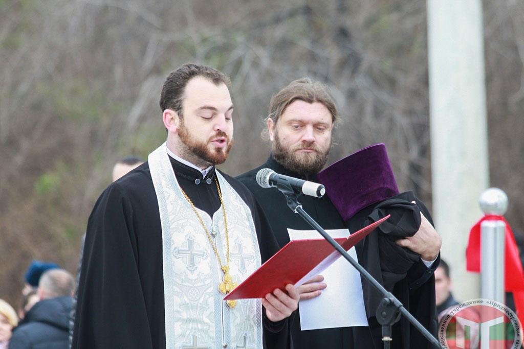 Чин освящения Арки мира провел первый помощник Архиепископа Тираспольского и Дубоссарского Саввы архимандрит Иоанн Данилеску