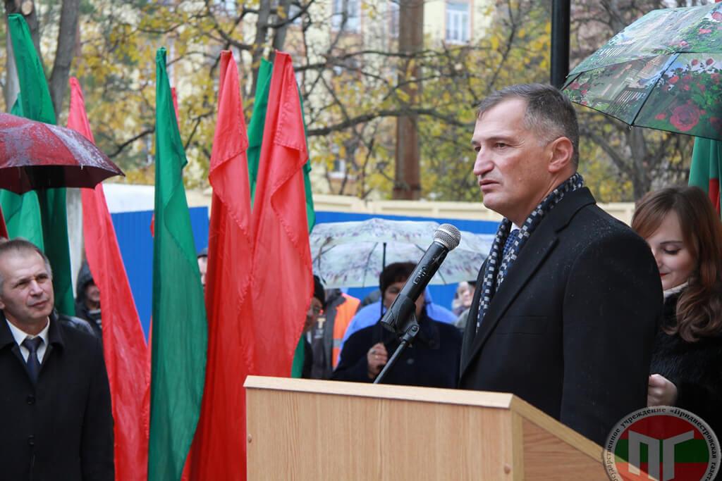 Павел Прокудин отметил: «Мы открываем не просто памятный знак, а отдаём дань уважения поколению, которое победило в Великой Отечественной войне, восстанавливало разрушенную экономику и народное хозяйство, и которое создавало мощь Советского Союза»